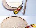家居diy创意:既实用又有装饰性的软木垫圆镜diy教程