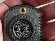 手工纯皮镶嵌钥匙扣