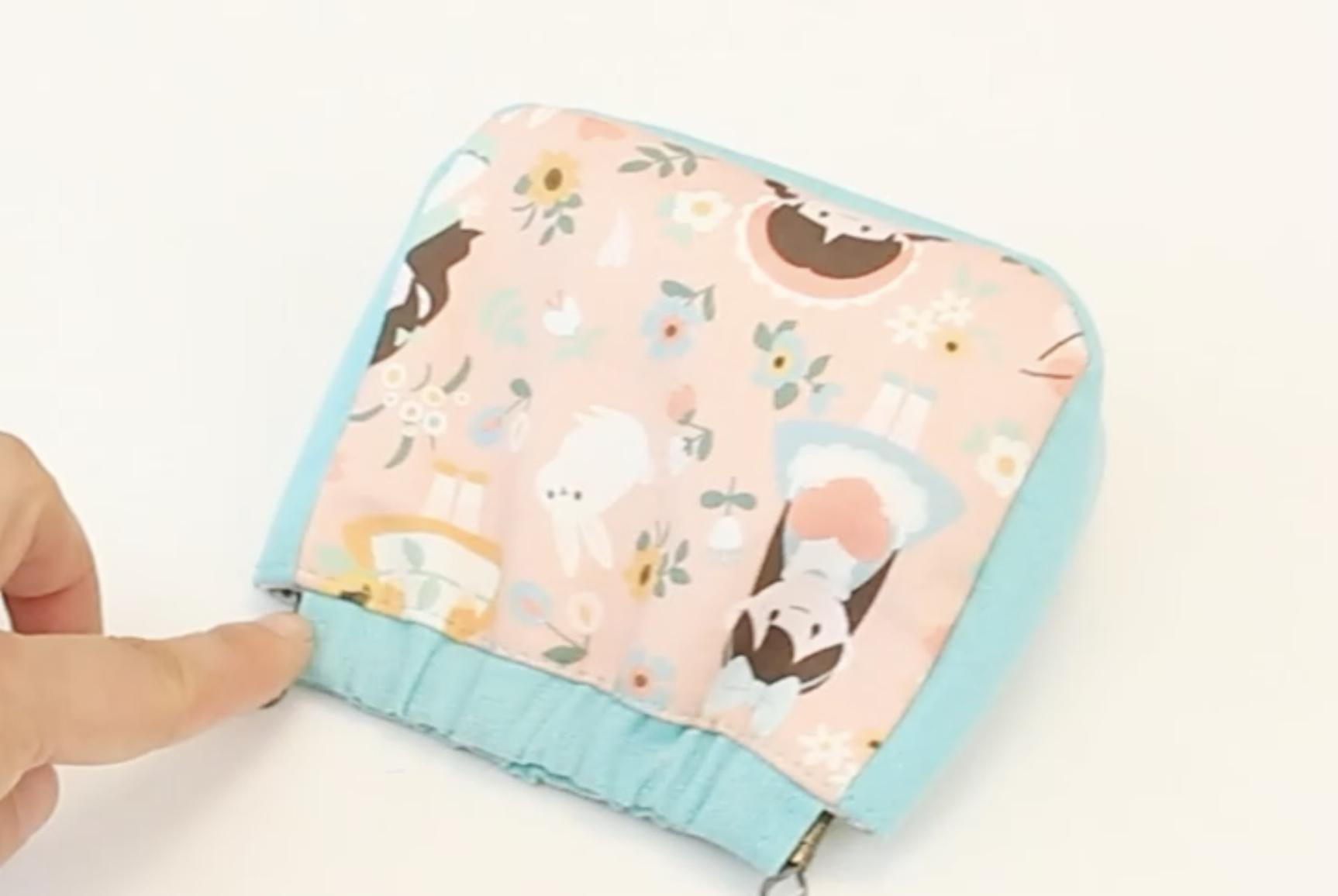 DIY布艺缝纫小视频:小巧美观的化妆袋/口金包制作过程