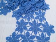 典雅的纯手工镂空钩花编织羊绒长款围巾披肩   现货!