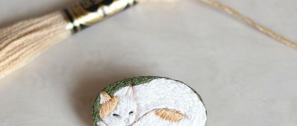 精致的刺绣小动物们 | @kanaecco