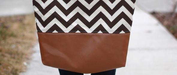 DIY托特包教程:皮革+布料托特包(Tote bag)制作教程