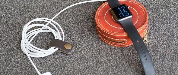 皮艺手工制作教程:diy染色植鞣革 Apple Watch充电包(转载)