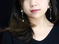 【晚安星星】楠楠小张简约气质施华洛星星耳环耳链耳饰女礼品