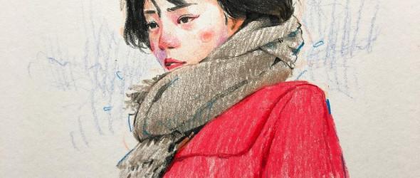 韩国插画师Kim Beomsoo的人像速写