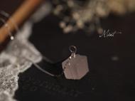 【Mint】粉晶原石手工925纯银锁骨链项链女