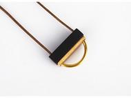 纯手工黄铜+紫光黑檀木质项链