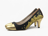 祖母绣堂 金色年华系列手工盘金绣高跟鞋 设计师品牌
