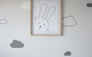 小白兔打印装饰画免费下载