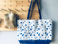 / BLUE | 蓝 / 双层大布包 | 崇明土布&蓝染布料拼接表布 | 蓝色8A细帆里布