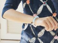 【春之游】春季粉嫩桃花款海蓝宝色玉髓粉水晶手链 手串