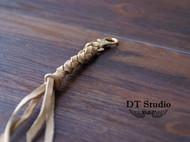 编织植鞣牛皮钥匙绳