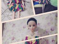手工DIY太阳下盛开的彩虹裙。