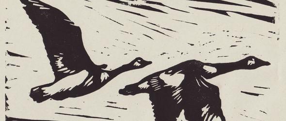 亚麻油毡浮雕版(上)-介绍及作品赏析