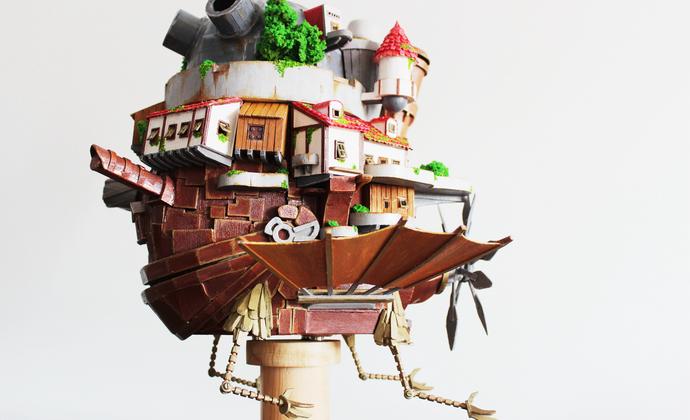 纯手工木质:哈尔的移动城堡 天空版