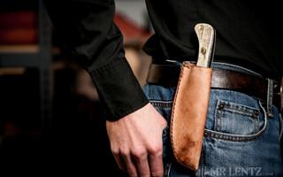 皮革diy教程:简易手工刀皮革刀套制作教程