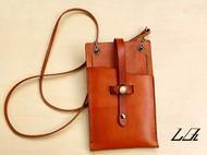 LQ原创纯手工制作—植蹂皮茶色小小背包