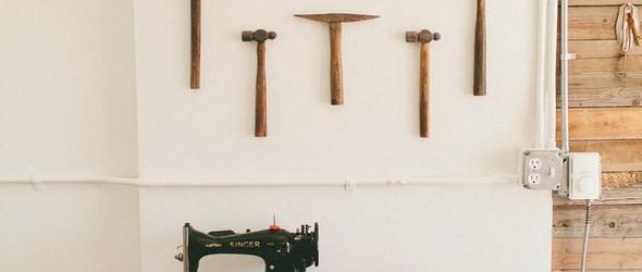 回归内心,设计师Amy和车库改造的完美工作室Stitch&Hammer