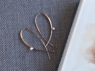 MQ奎妮小姐 心心/天然珍珠925纯银镀玫瑰金耳钉