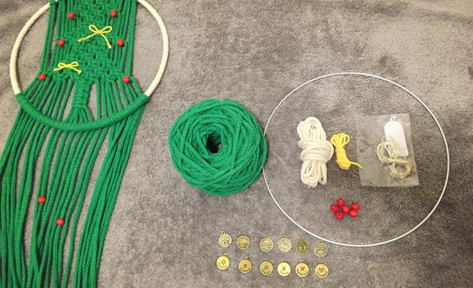 Macrame手编圣诞树-编织作品及材料包
