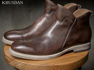 英伦复古潮流秋上新男士时尚拉链真皮马丁靴皮靴