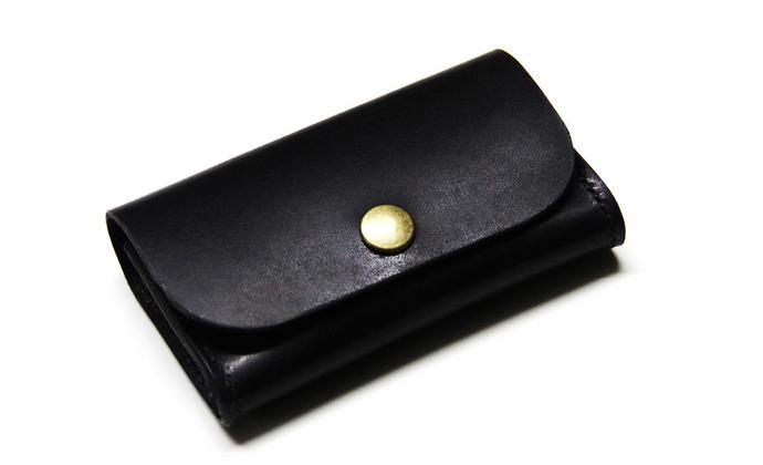 【ZHITIAO】黑色牛皮卡包/名片包