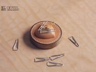 心形皮+黄铜---镇纸