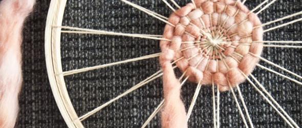 编织经验分享之一 | 如何利用刺绣箍编织漂亮的织物