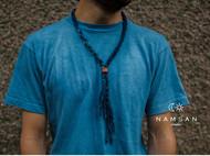 南山草木染 手工编织蓝染编绳项链 阿美咔叽 复古visvim indigo