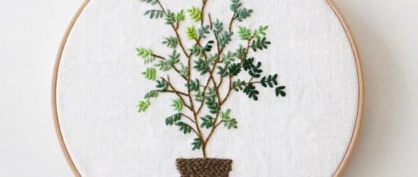 清新逼人的刺绣植物 - @yeoul_jasoo