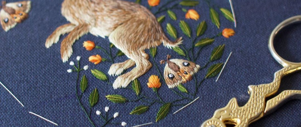 极致细腻的手工刺绣   Chloe Giordano