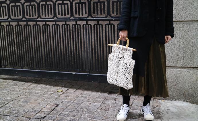 lupee|macrame编织衣架手挽包