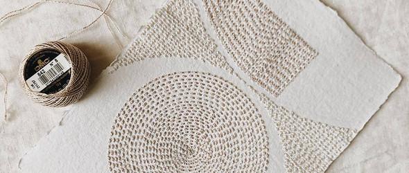 手绣的纸张艺术 | Britt Fabello