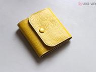 柠檬黄三折钱包 清新糖果色 女