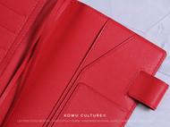 正红色羊皮 手账本皮套