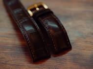 薄款棕色鳄鱼表带