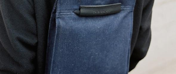 波兰工作室Thisispaper Studio简洁优雅的帆布皮革背包