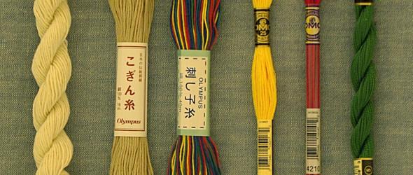 刺子绣(小巾绣)基础知识和刺绣教程第三篇:绣线和绣针的选择