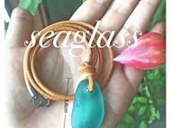 【原创】稀有色天然海玻璃手工项链