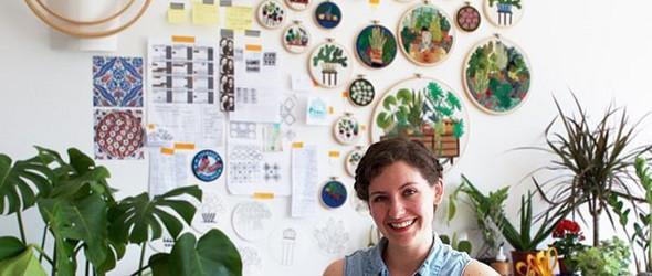 生活,一半是植物,一半是刺绣 -刺绣艺人 Sarah Benning作品