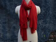 南山草木染原创自制桑蚕丝真丝苏木染酒红色女士长款时尚围巾