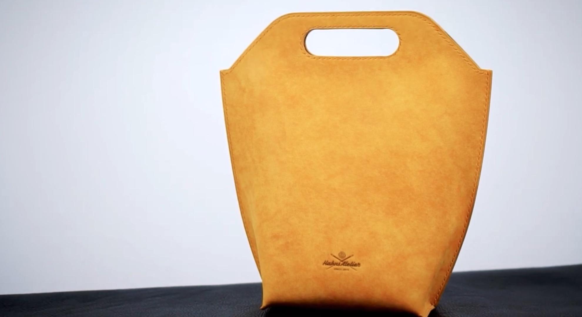 DIY手工皮革包袋视频教程与图纸下载:真皮手提袋/野餐包/购物袋制作过程