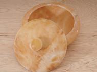 【米黄玉石大碗】附盖储物大碗 日本直邮包邮