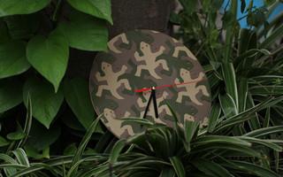 #时间全靠猜系列 法国山羊皮壁虎拼图时钟制作过程