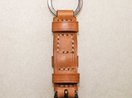 皮制经典钥匙环 重氧化纯铜扣件