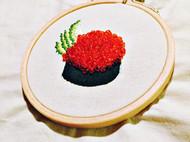 鱼子酱&加州卷寿司胸针