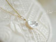 14K包金简约气质天然花瓣珍珠锁骨链项链