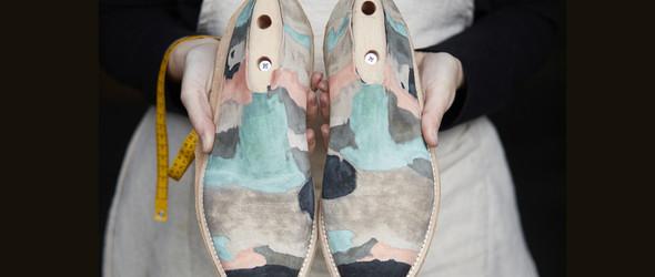 四色定理与传统制鞋的天作之合:女鞋匠 Barbora Veselá 与独特纹理的手工休闲皮鞋
