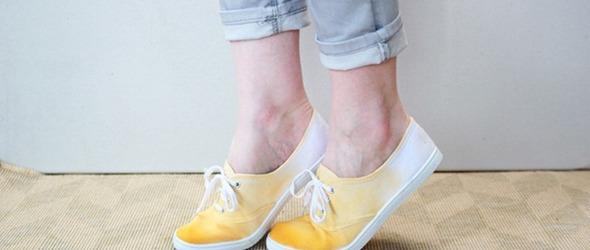 天然染色DIY教程:自己动手染双彩色的帆布鞋