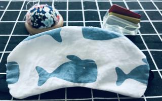 """小鲸鱼眼罩,带上它,每晚都睡在""""海里""""~"""